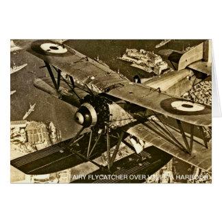 Flycatcher de Fairey sobre el puerto de La Valeta Tarjeta De Felicitación