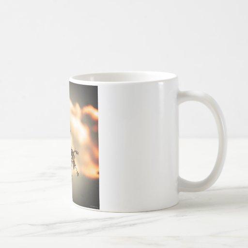 Flycatcher del fuego tazas de café