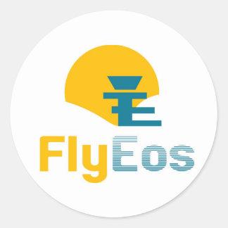 FlyEos_large Pegatina Redonda