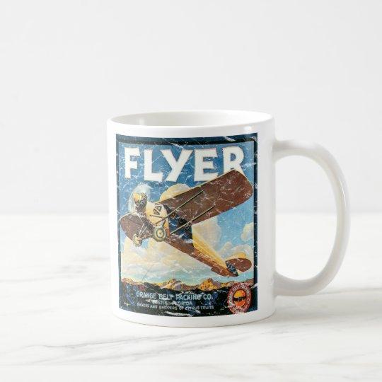 Flyer- distressed coffee mug