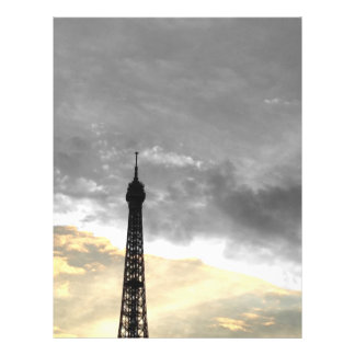 flyer Eiffel Tower gold and money