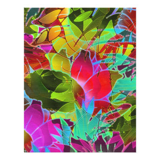 Flyer Floral Abstract Artwork