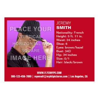 Flyer Hype Apple Red Glow Headshot Business Card
