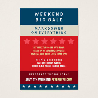 Flyer Hype Badge Store Sale Marketing Vertical V6 Business Card