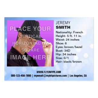 Flyer Hype Blue Glow Headshot Business Card