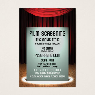 Flyer Hype Cinema Film Screening Event Promotion Business Card