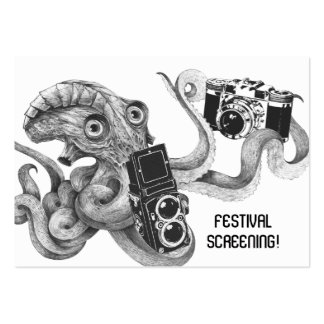 Flyer Hype Film Octopus Camera Film Screening Large Business Card