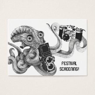Flyer Hype Film Octopus Camera Film Screening V2 Business Card