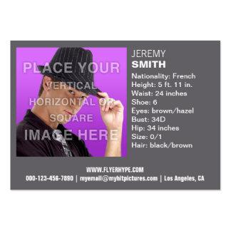 Flyer Hype Fog Grey Glow Headshot Business Card