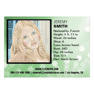 Flyer Hype Green Glow Headshot Business Card