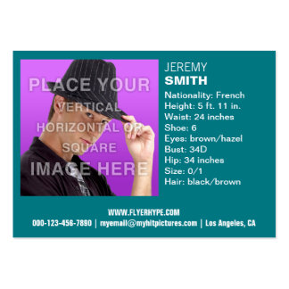 Flyer Hype Mint Teal Glow Headshot Business Card