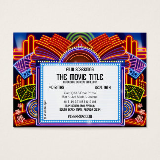 Flyer Hype Movie Marquee Cinema Film Screening Business Card