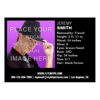 Flyer Hype Night Glow Headshot Business Card
