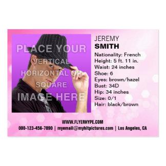 Flyer Hype Pink Glow Headshot Business Card
