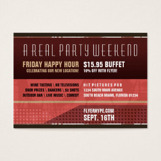 Flyer Hype Secret Stash Party Horizontal Vr. 4 Business Card