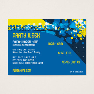 Flyer Hype Trim Style Club Event Horizontal V1 Business Card