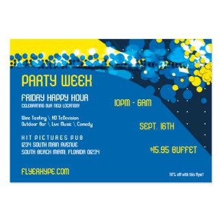 Flyer Hype Trim Style Club Event Horizontal V1 Large Business Card