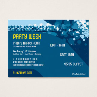 Flyer Hype Trim Style Club Event Horizontal V2 Business Card