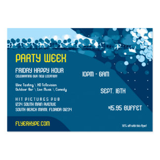 Flyer Hype Trim Style Club Event Horizontal V2 Large Business Card