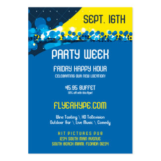 Flyer Hype Trim Style Club Event Promo Vertical Large Business Card