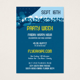 Flyer Hype Trim Style Club Event Promo Vertical V2 Business Card
