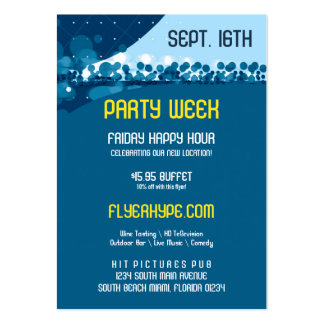 Flyer Hype Trim Style Club Event Promo Vertical V2 Large Business Card