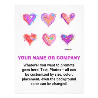 Flyer - Pop Art Crazy Hearts 2