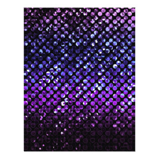Flyer Purple Crystal Bling Strass