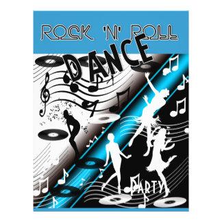 Flyer Rock 'n' Roll Retro Dance Party Full Color Flyer
