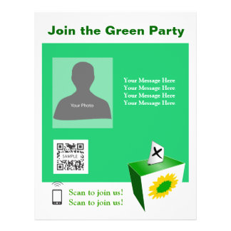Flyer Template  Green Party