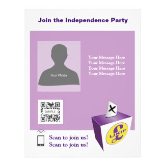 Flyer Template Independence Party