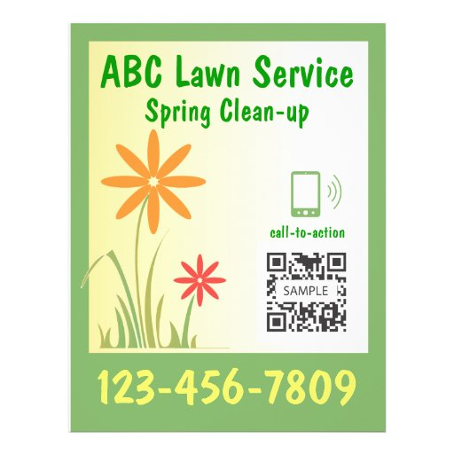 Flyer template lawn service zazzle for Lawn service flyers template