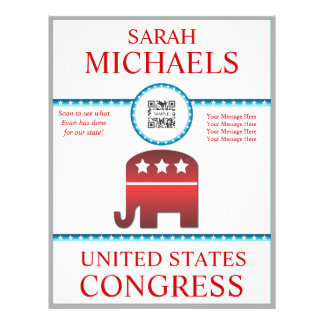 Flyer Template Republican Elephant