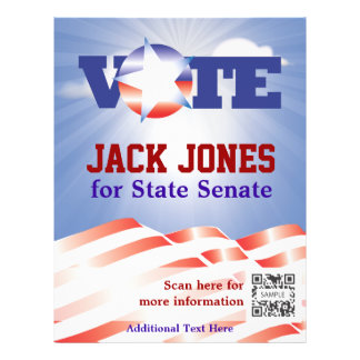 Flyer Template Vote Senate