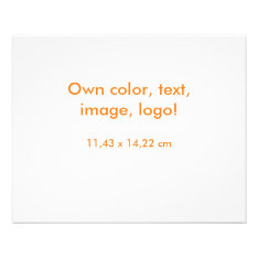 Flyer Uni White - Own Color at Zazzle