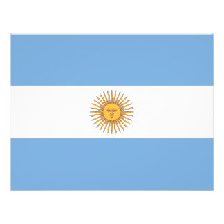 Flyer with Flag of Argentina