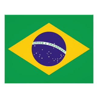 Flyer with Flag of Brazil