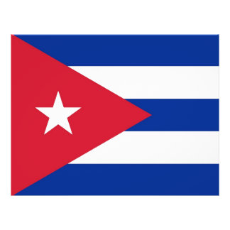 Flyer with Flag of Cuba