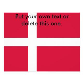 Flyer with Flag of Denmark