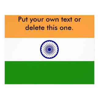 Flyer with Flag of India