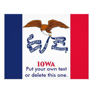 Flyer with Flag of Iowa, U.S.A.