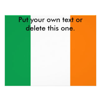 Flyer with Flag of Ireland