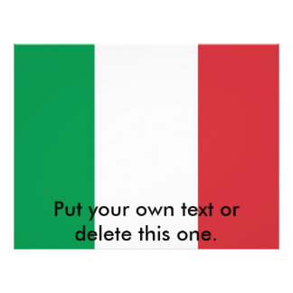 Flyer with Flag of  Italy