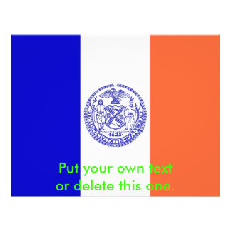 Flyer with Flag of New York City, U.S.A.