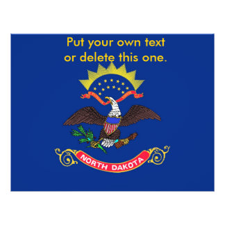 Flyer with Flag of North Dakota, U.S.A.