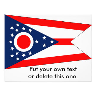 Flyer with Flag of Ohio, U.S.A.