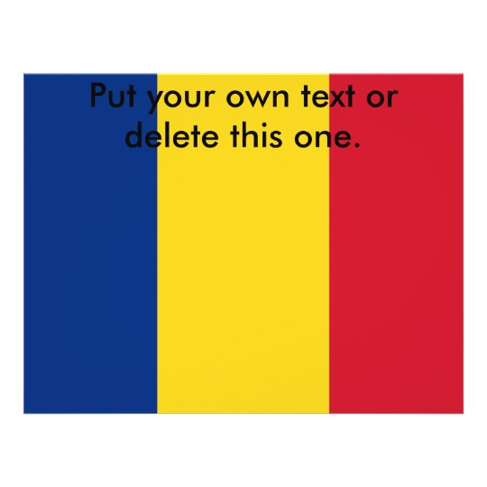 Flyer with Flag of Romania