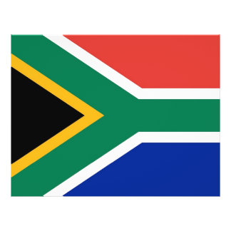 Flyer with Flag of South Africa