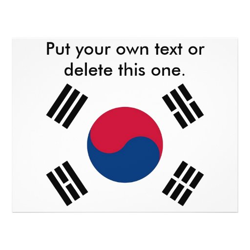 Flyer with Flag of South Korea