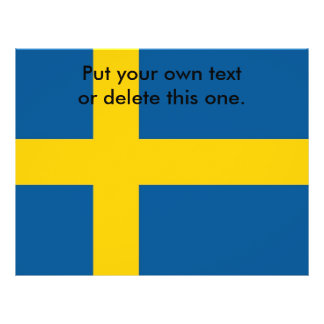 Flyer with Flag of Sweden